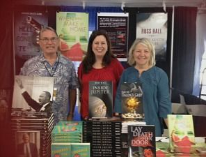 Russ Hall, Claire Ashby and Elizabeth Buhmann at the 2014 Texas Book Festival