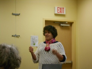 Author Anna Castle addressing SINC ~ Heart of Texas Chapter, March 2015