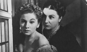 Joan Fontaine and Judith Anderson as the second Mrs. DeWinter and Mrs. Danvers, respectively, in the 1940 film diected by Alfred Hitchcock